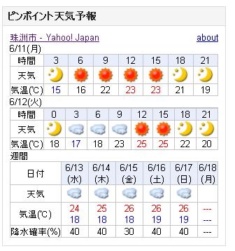 06/11天気予報