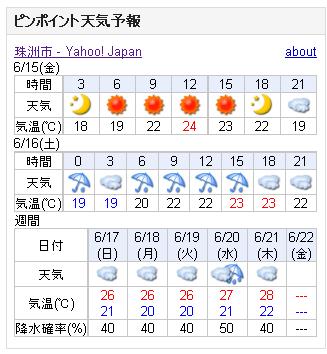06/15天気予報