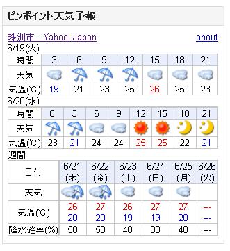 06/19天気予報