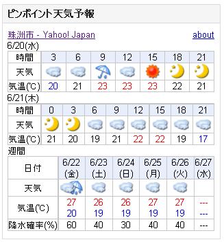 06/20天気予報