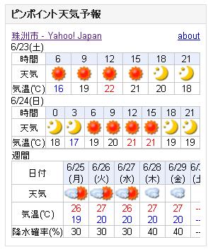 06/23天気予報
