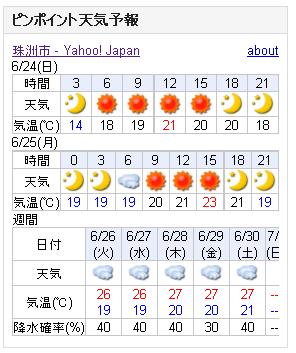 06/24天気予報