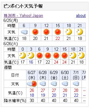 06/25天気予報