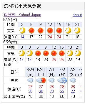 06/27天気予報