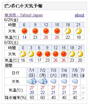 06/29天気予報