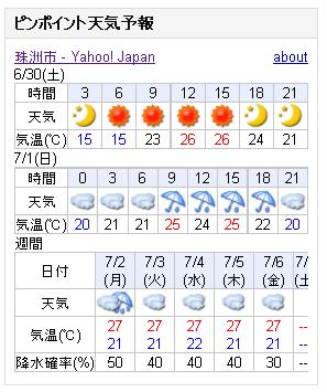 06/30天気予報