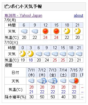 07/09天気予報