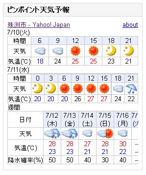 07/10天気予報