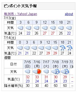 07/13天気予報