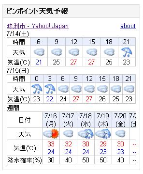 07/14天気予報