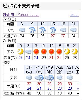 07/15天気予報