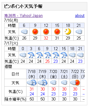 07/16天気予報