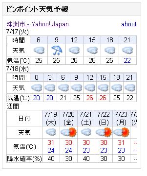 07/17天気予報