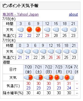 07/18天気予報