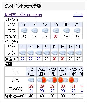 07/19天気予報