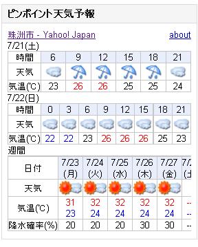 07/21天気予報