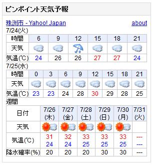 07/24天気予報