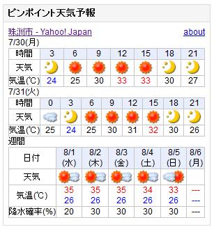 07/30天気予報