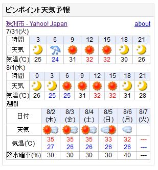 07/31天気予報