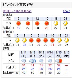 08/09天気予報