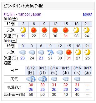 08/10天気予報