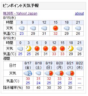 08/15天気予報