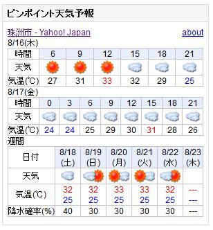 08/16天気予報