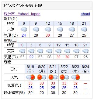 08/17天気予報