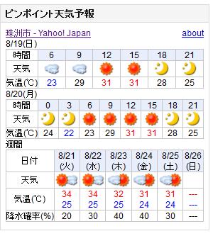 08/19天気予報