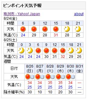 08/24天気予報