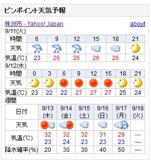 09-11天気予報