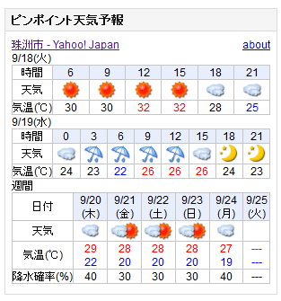 09-18天気予報
