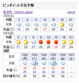 07-20天気予報