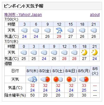 07-30天気予報