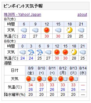 08-07天気予報