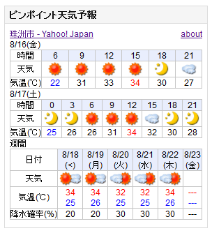 08-16天気予報