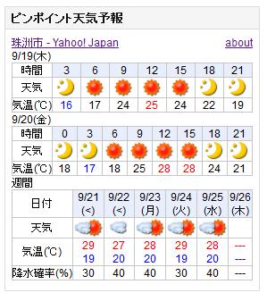 09-19天気予報