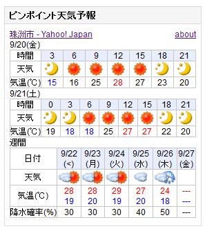 09-20天気予報
