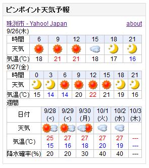 09-26天気予報
