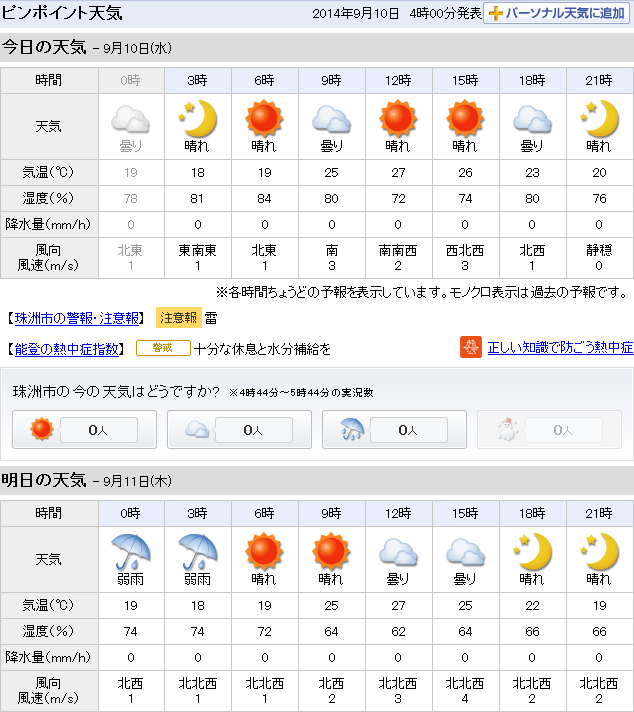 09-10天気予報