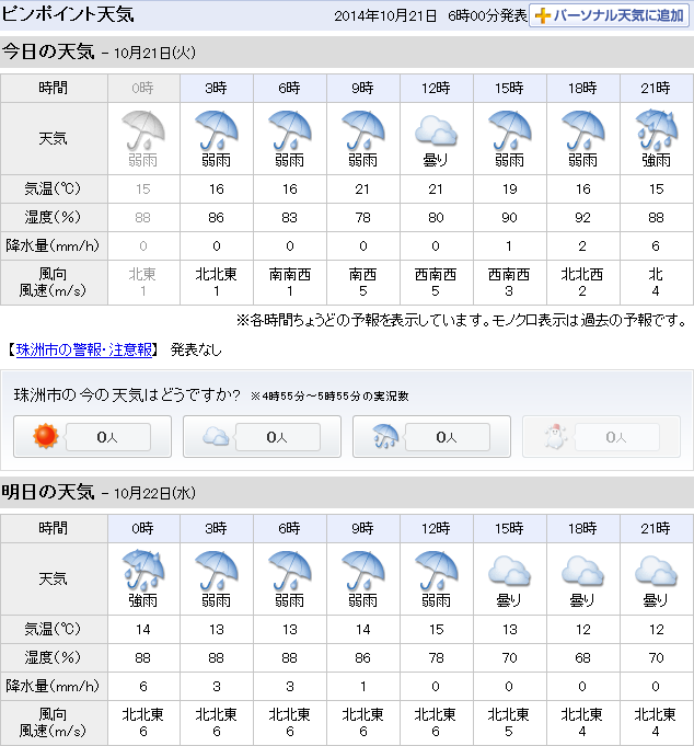 10-21天気予報g