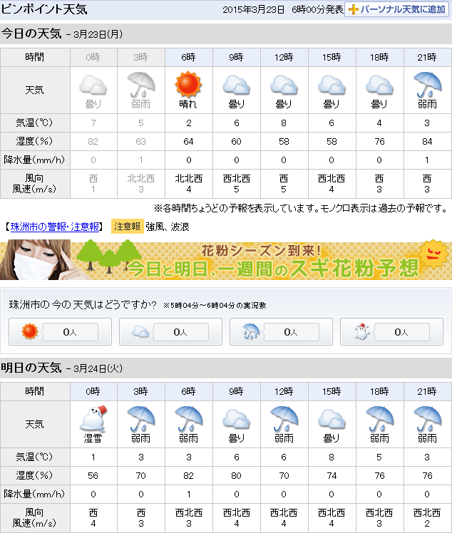 03-23天気予報