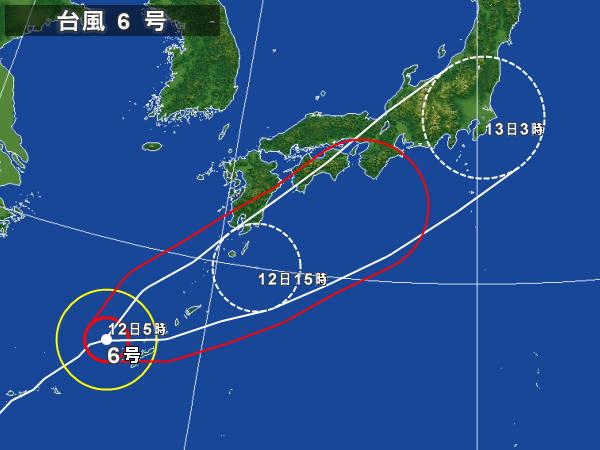 05/12 台風6号