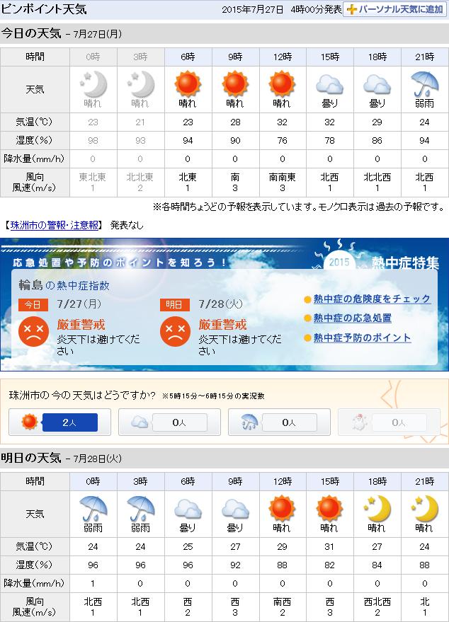 07-27天気予報