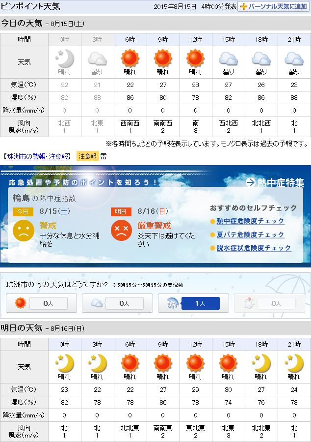 08-15天気予報