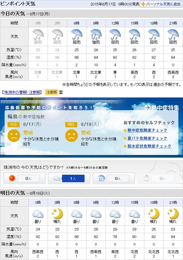 08-17天気予報