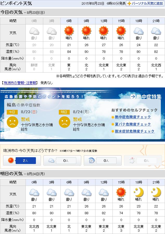 08-23天気予報