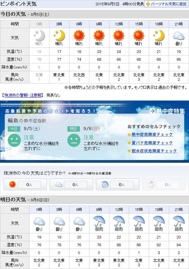 09-05天気予報