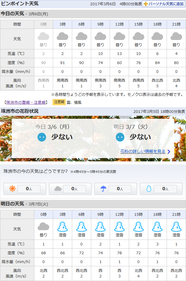 03-06天気予報