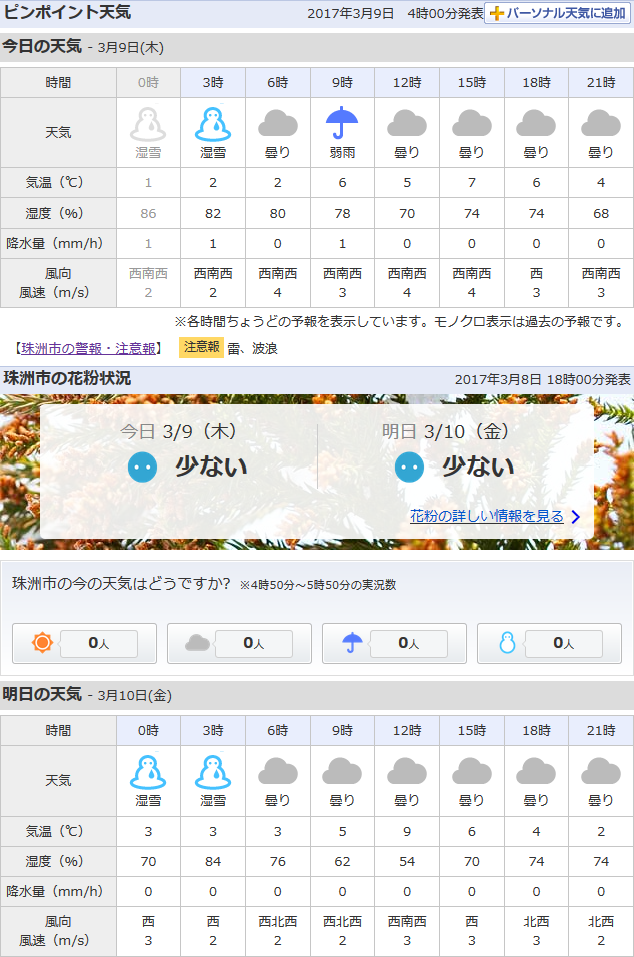 03-09天気予報